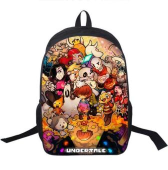 Anime Undertale Backpack For Teenagers Boys Girls School Bags SansWomen Men Travel Bag Undertale Children School Backpacks - intl