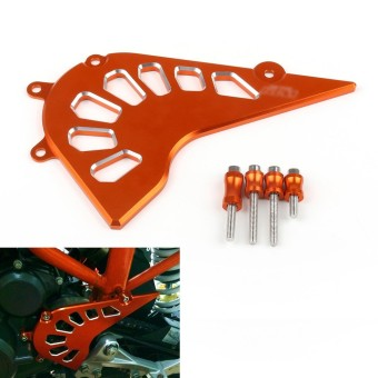 Areyourshop Orange Front Guard Chain Cover For KTM DUKE 390 - intl
