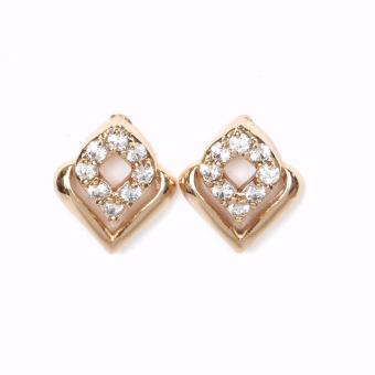 Athena & Co. 18K Gold Plated Diana Diamond Stud Earrings