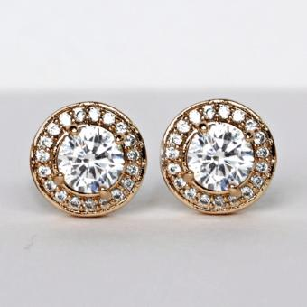 Athena & Co. 18K Gold Plated Kelly Stud Earrings