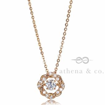 Athena & Co. 18K Gold Plated Kimberly Open Circle Pendant Necklace