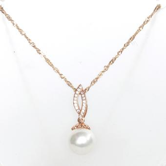 Athena & Co. 18K Gold Plated Maureen Pearl Pendant Necklace