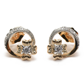 Athena & Co. 18k Isabella Earrings (Two-Tone)