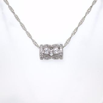 Athena & Co. 18K White Gold Plated Belle Rondelle PendantNecklace Price Philippines