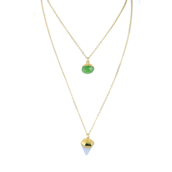 Athena & Co. Semi Precious Layered Necklace