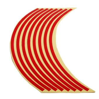 Autoleader 17inch Motorcycle Car Wheel Rim Reflective Metallic Stripe Tape Decal Sticker Red