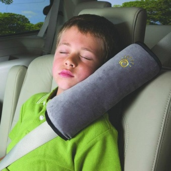 Baby Children Safety Strap Car Seat Belts Pillow ShoulderProtection GY - intl
