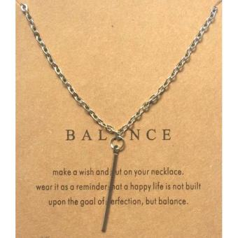 BALANCE pendant necklace SILVER dipped 7g