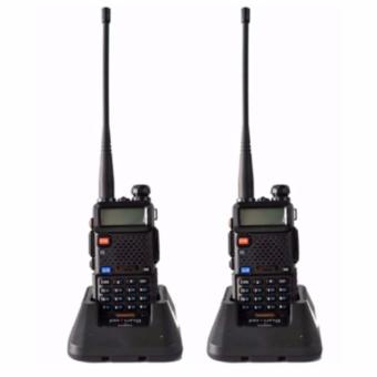 Baofeng/Pofung VHF/UHF Dual Band Two-Way Radio Set of 2(Black) UV5R