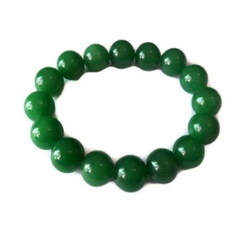 Be Lucky Charms Feng Shui Jade Big Bead Bracelet