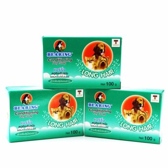 Bearing Anti Tick And Flea Dog Soap for Long Hair Breeds 100g(Green)