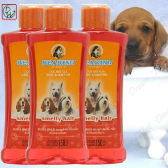 Bearing Tick and Flea Dog Shampoo 150ml - Smelly Hair Set of 3