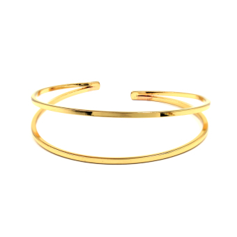 Bling Bling Alexis Gold Bracelet Cuff Bangle