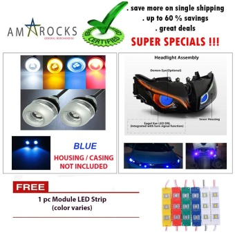 Blue Motorcycle LED Light Eagle Eye Universal DRL Light Bulb for for Yamaha Sniper 150 MXi Movistar