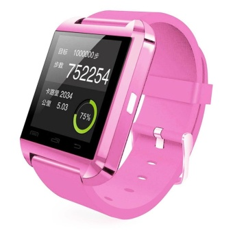 Bluetooth 4.0 Smart Wrist Watch Phone Mate Sport For iPhone Xiaomi Pink - intl