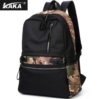 Boshikang Men Backpack Large Capacity Bagpack for Boys DaypackLaptop Back Pack Waterproof Oxford Black Student School - intl