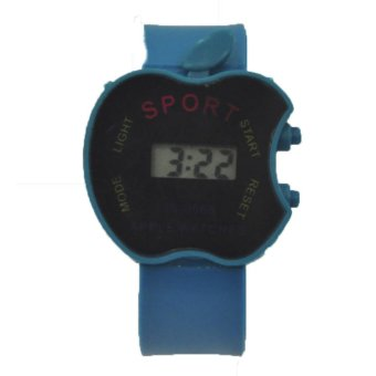 Boys Girls Students Time Electronic Digital LCD Apple Shape Wrist Sport Watch 24g