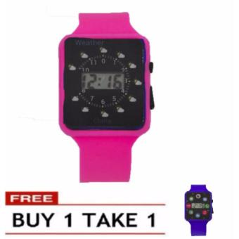 Boys Girls Students Time Electronic Digital LCD Wrist Sport Watch 21g BUY 1 TAKE 1