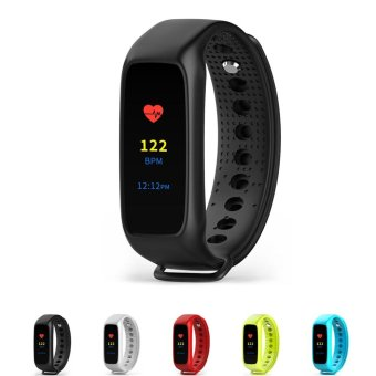 BOZLUN Colorful Touch Screen BT4.0 Smart Wrist Band Watch IP67Water-Proof Sports Fitness Tracker Smart Bracelet Heart Rate/BloodPressure/Pedometer/Sleep Monitor for IOS & Android + Box - intl