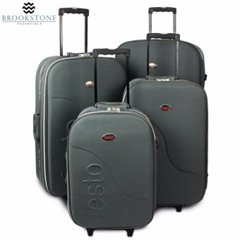 "Brookstone Festorrific Travel Luggage Set of 4 Size (20""/24""/28""/32"") - Gray"