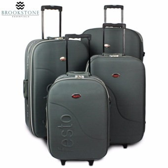 "Brookstone Festorrific Travel Luggage Set of 4 Size(20""/24""/28""/32"") - Gray"
