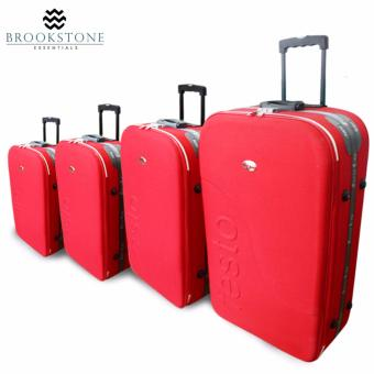 "Brookstone Festorrific Travel Luggage Set of 4 Size(20""/24""/28""/32"") - Red"