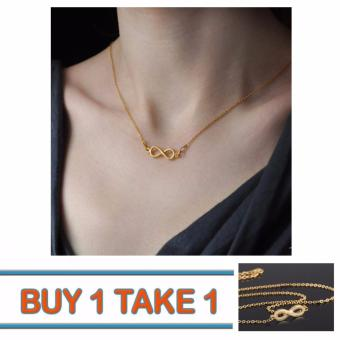 Buy One Take One Charming Gold Infinity Necklace
