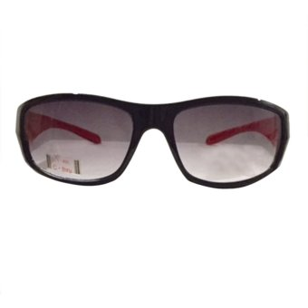 C-thru CT-5408 Sunglasses (Black/Red) with FREE Case- CleaningCloth- and Box