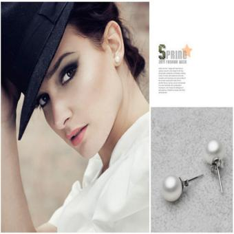 Candy Online 8MM Silver Freshwater Pearl Stud Earrings JewelryED029