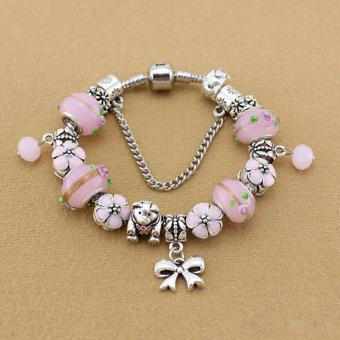 Candy Online Europe and the United States trendy 925 Silver Pandora charm bracelet crystal bracelet B15207