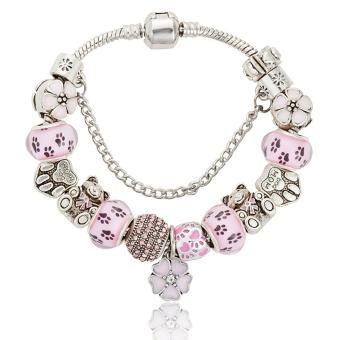 Candy Online Europe and the United States trendy 925 Silver Pandora charm bracelet crystal bracelet B16017