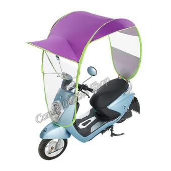Candy Online Motorcycle Bike E-Bike Canopy Umbrella Cover (Purple)