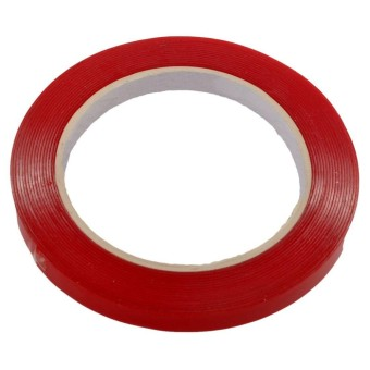 Car Double Sided Adhesive Foam Tape 10m*10mm Heat Resistant Clear Acrylic Red - intl