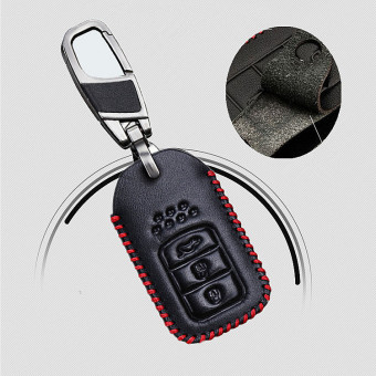 Car Shell Leather Key Case Cover KeyChain Inductive For Honda City Civic Accord Fit Accessories - intl