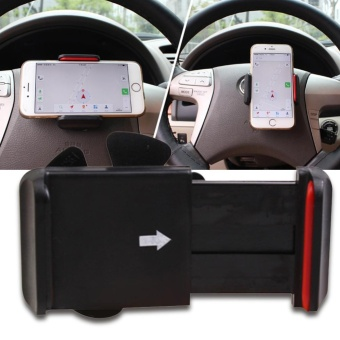 Car Steering Wheel Cell Phone Holder - intl