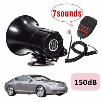 Car Van Truck Boat Horn Sound Loud 12V 50W Loud 7 Sounds Tone HornSiren Speaker Alarm for Car Motor Van Truck - intl Price Philippines