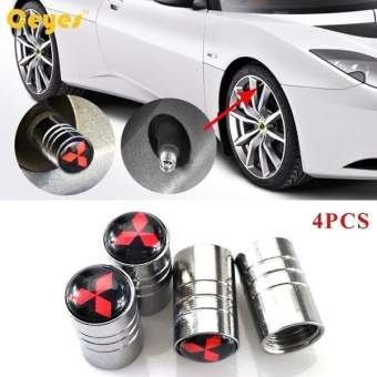 Car Wheel Tire Valves Tyre Stem Air Caps Cover case for All Carsemblem auto accessories Car-stying Stainless Steel 4pcs/set - intl