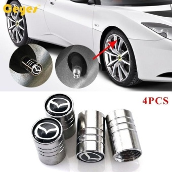 Car Wheel Tire Valves Tyre Stem Air Caps Cover case for Mazda 2 3 56 cx-5 cx5 cx-7 cx-3 323 626 emblem auto accessories Car-styingStainless Steel 4pcs/set - intl