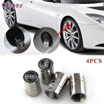 Car Wheel Tire Valves Tyre Stem Air Caps Cover Case for VolvoEmblem Auto Accessories Car-stying Stainless Steel 4pcs/set - intl