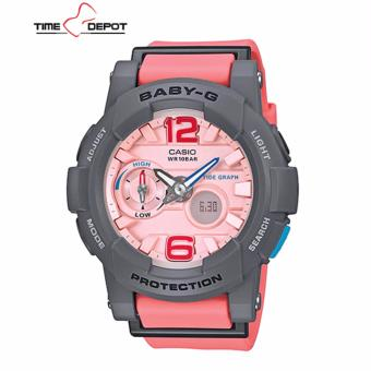 Casio Baby-G Women's Analog Digital Pink Resin Strap Watch BGA-180-4B2