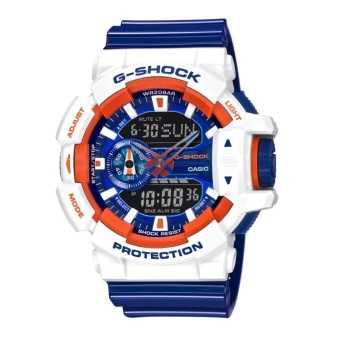 Casio G-Shock GA-400CS-7A Mens Watch - White & Blue &Orange - intl