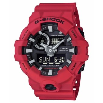 Casio G-Shock Men's Red Resin Strap Watch GA-700-4A - intl