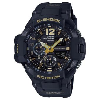 Casio G-Shock Men's Black and Gold Resin Strap Watch GA-1100GB-1A Price Philippines