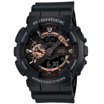 Casio G-Shock Mens Rose Gold/Black Resin Strap Watch GA-110RG-1A - intl
