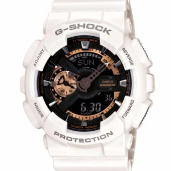 CASIO G-SHOCK Rose Gold White Watch GA-110RG-7A