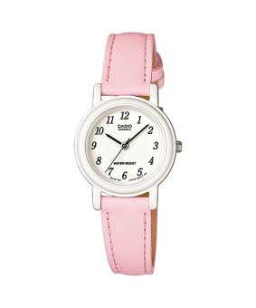 Casio Ladies Classic Women's Peach Leather Strap Watch LQ-139L-4B2DF