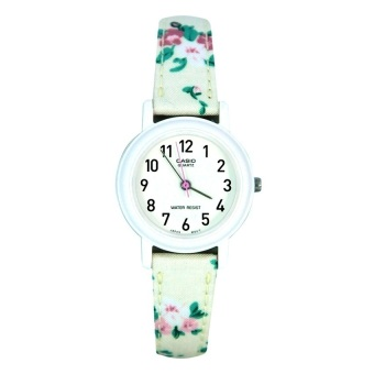 Casio Ladies Classic Women's White Floral Leather Strap WatchLQ-139LB-7B2DF