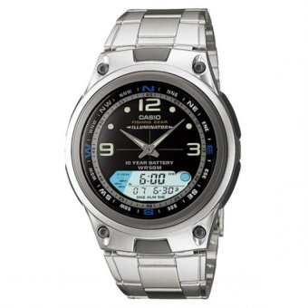 Casio Men's Silver Stainless Steel Strap Watch AW-82D-1AVDF