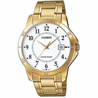 Casio MTP-V004G-7BUDF Men's Gold Stainless Steel Watch - intl