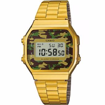 Casio Vintage Gold Plated Stainless Steel Watch For Men and Women- A168WEGC-3D
